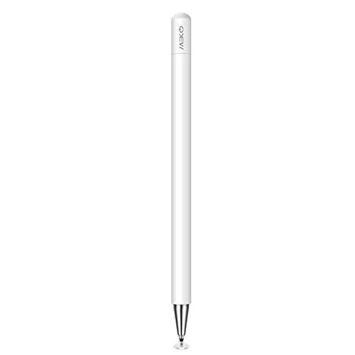 MEKO Eingabestift Disc Touch Pen, 2 in 1 Stylus Pen universal Touchstift 100% kompatibel mit Allen Tablets Touchscreen iPhone iPad Samsung Surface Huawei usw, magnetische Kappe, Weiß