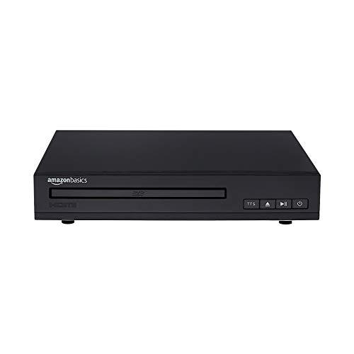 Amazon Basics Mini-DVD-Player mit Text-to-Speech-Technologie, HDMI-Schnittstelle, Cinch-Anschluss und Fernbedienung - schwarz