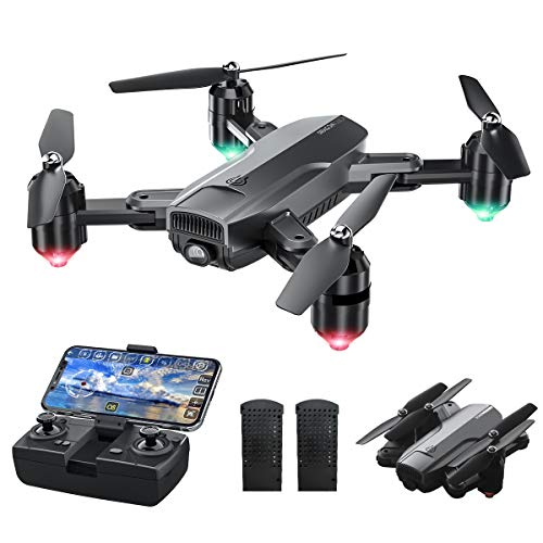Dragon Touch Drohne mit Kamera 1080P HD, 120° Weitwinkel haltbar RC Quadrocopter mit WiFi FPV Live Übertragung/Tap Fly/Follow Me/Höhenhaltung/Schwerkraft-Sensor/Headless Modus für Anfänger