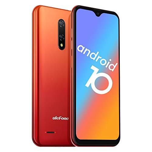 Ulefone Note 8P Smartphone Android 10-4G Dual SIM Billig Handy ohne Vertrag mit 3 in1 Steckplatz 5,5-Zoll-Bildschirm 2GB RAM 16GB ROM 8MP+2MP+5MP Dreifache Kameras (Orange)