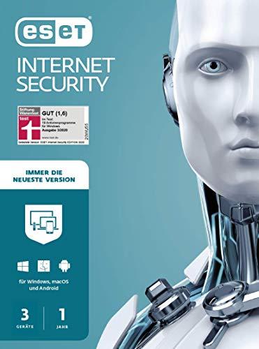 ESET Internet Security 2020 | 3 Geräte | 1 Jahr | Windows (10, 8, 7 und Vista), macOS, Linux und Android | Aktivierungskarte
