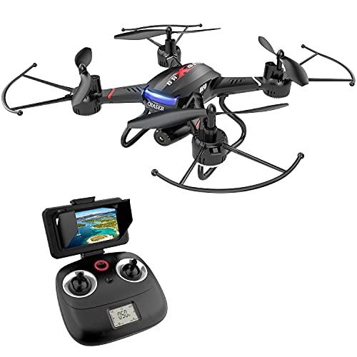 HOLY STONE F181G Drohne mit Kamera HD und 5.8 Ghz LCD Bildschirm,RC Quadcopter mit FPV WiFi Live Übertragung,Höhenhaltung,One Key Start,Kopflosmodus,3D Rollen kleine Fotodrone für Kinder Anfänger