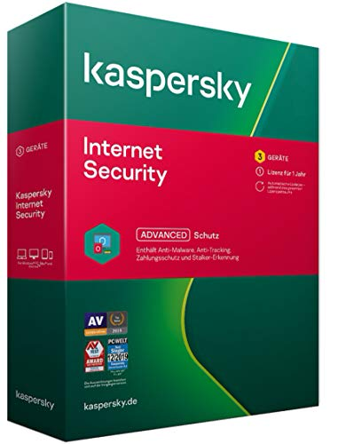Kaspersky Internet Security 2021 | 3 Geräte | 1 Jahr | Windows/Mac/Android | Aktivierungscode in Standardverpackung