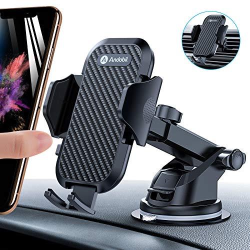 andobil Handyhalterung Auto [ 2021 Stabilere Version ] Auto Handyhalter Saugnapf & Lüftung 3 in 1 Universale KFZ Handy Halterung Pkw Halterung Kompatibel mit iPhone/Samsung/Huawei Xiaomi/LG usw
