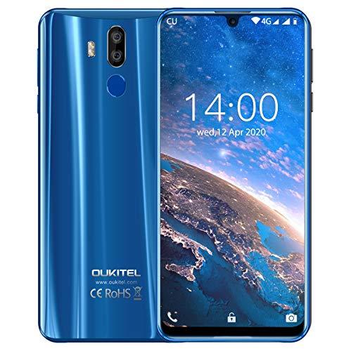 OUKITEL K9 Smartphone 7 Zoll FHD+ Großer Bildschirm Smartphone Ohne Vertrag 4G Dual SIM Smartphone 4GB RAM+64GB ROM 6000 mAh 30 Watt Schnellladung (Blau)