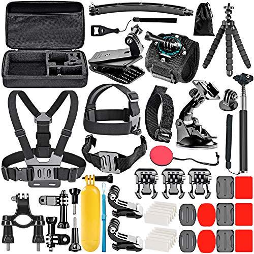 Neewer 50-in-1 Action-Kamera Zubehör Set, kompatibel mit GoPro Hero10/Hero9/Hero8/Hero7, GoPro Max, GoPro Fusion, Insta360, DJI Osmo Action, AKASO, APEMAN, Campark, SJCAM