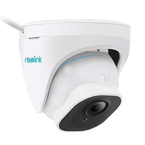 Reolink 4K PoE IP Kamera Outdoor mit Personen-/Autoerkennung, 3X Optischer Zoom 8MP Überwachungskamera Aussen mit Audio, Micro SD Kartensteckplatz, IR Nachtsicht, IP66 Wasserfest, Zeitraffer, RLC-822A